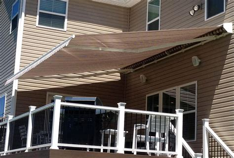 deck awnings retractable retractable roof mounted awning porch 12 affordable