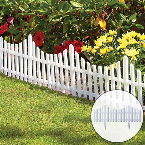 white plastic wooden effect lawn border edge garden