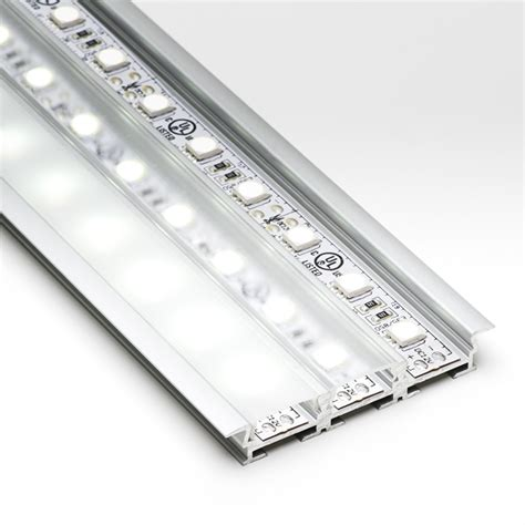 Discontinued Kitchen Cabinets by 3 Channel Flush Mount Profile Housing For Led Strip Lights