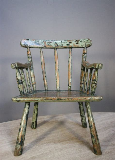 High Back Windsor Armchair Primitive Georgian Antique Stick Chair From Wales