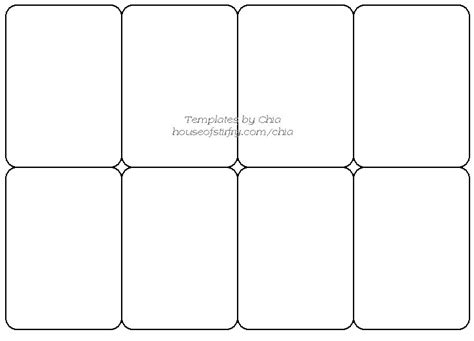 Blank Card Deck Template by Templete For Cards Artist Trading Cards Craft