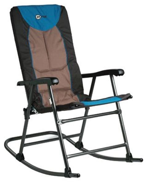 Outdoor Folding Rocking Chairs by Outdoor Metal Folding Rocking Chair Padded Seat Portable