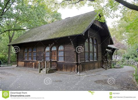 Central Park Swedish Cottage by Swedish Cottage Marionette Theater Stock Photo Image