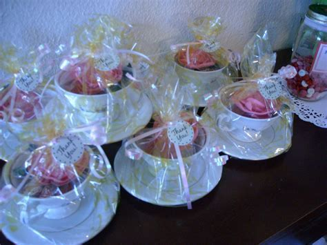 Tea Party; Tea Cup party favors   Completed Projects