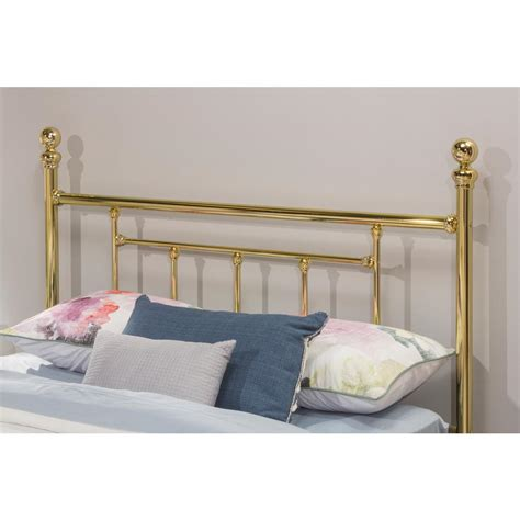 brass headboards queen hillsdale furniture chelsea classic brass queen headboard