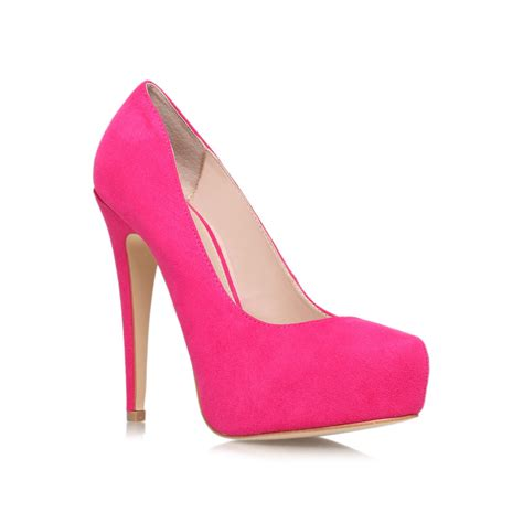 high shoes for carvela kurt geiger kaci high heel court shoes in pink lyst