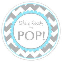 ready to pop free template baby shower ready to pop labels gray and blue by