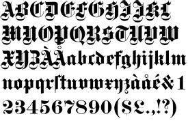 lettere gotiche da stare galeria tatuazy alfabet styl gotycki