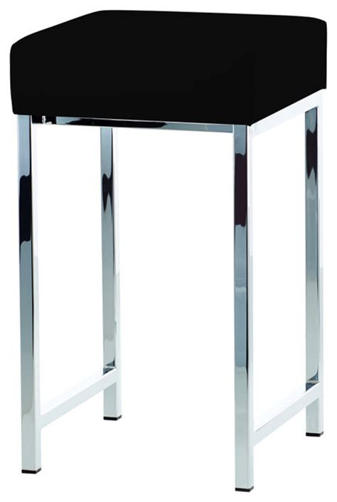 chrome vanity bench dwba backless vanity stool bench with chrome metal legs contemporary vanity