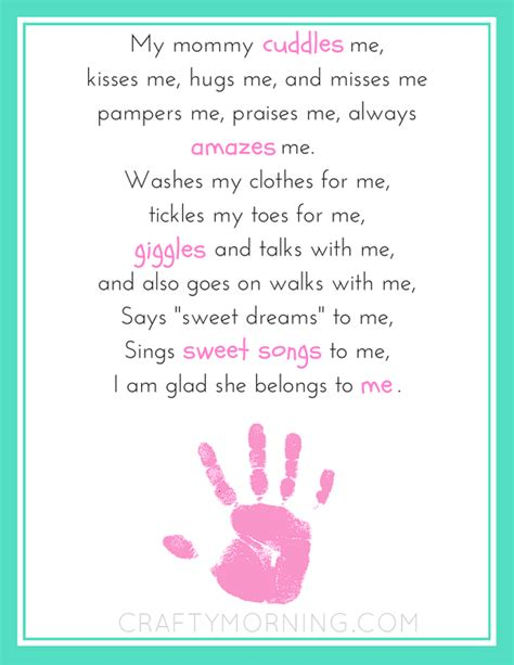 Free Printable Mothers Day Poems 9 free s day printables poems crafty morning