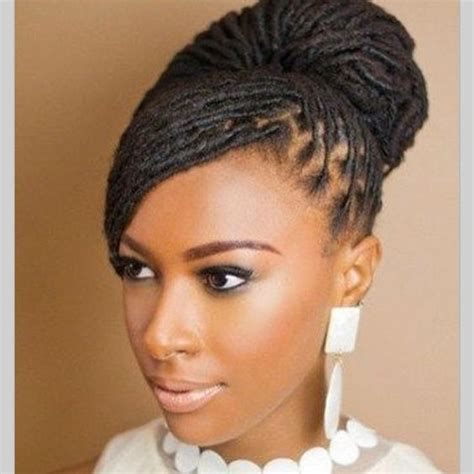 elegant dreadlock hairstyles for women beautiful loc bun hair style for brides dreadlock