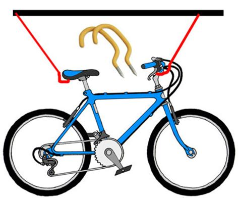How To Hang Bicycles From The Ceiling by How To Hang A Bike From The Ceiling Bike Repair Forums
