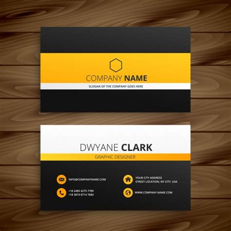 modern business card template vector free download