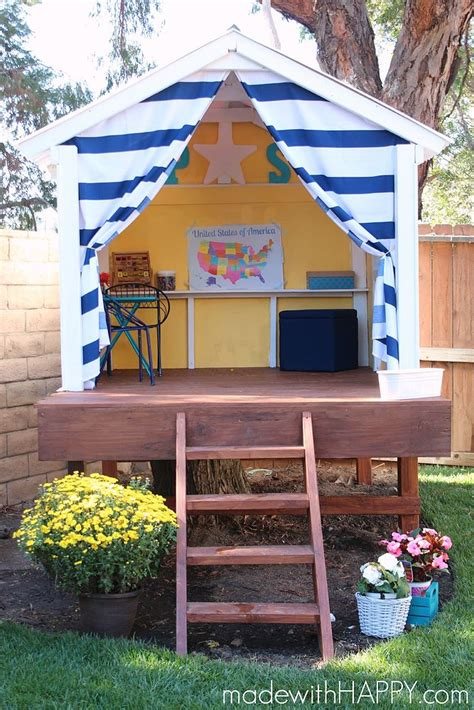 treehouse for backyard hometalk diy treehouse happy hideaway to brighten up any backyard