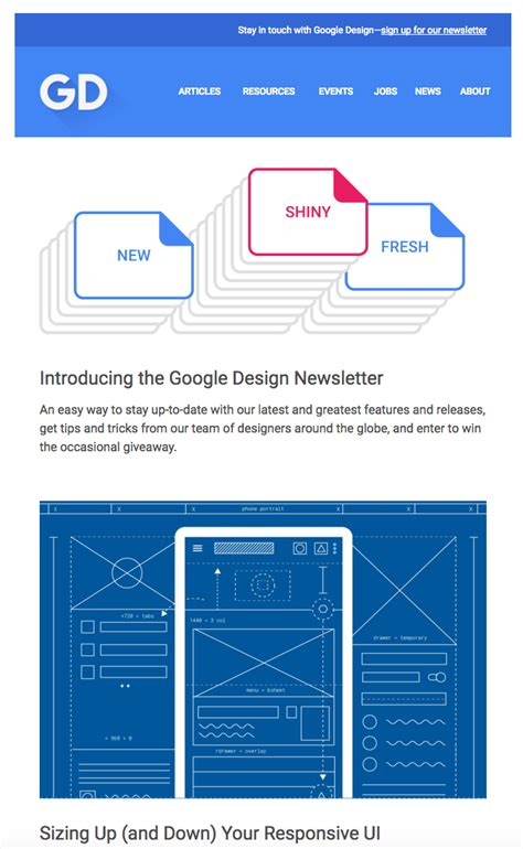 google design newsletter out of the ordinary emails creativemornings