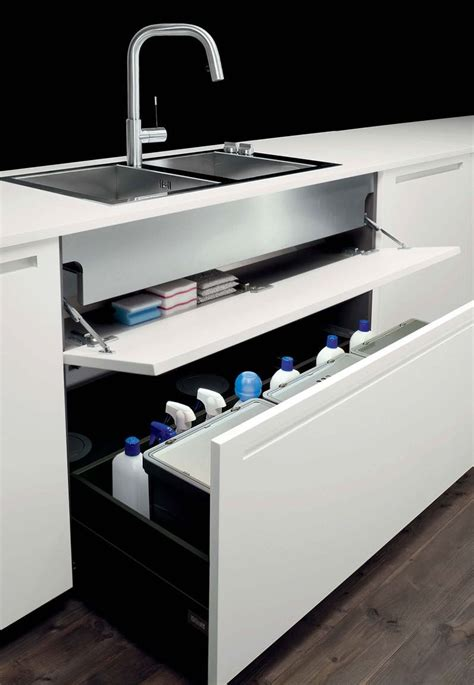Boffi Storage Drawers Under The Sink Kitchen Ideas Kitchen Sink Storage