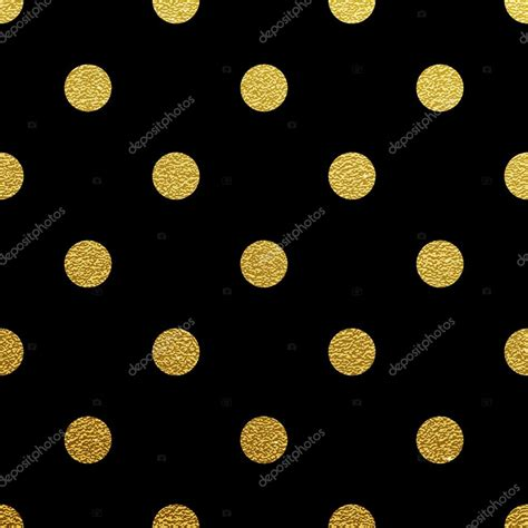 pattern dots gold gold polka dot seamless pattern on black background