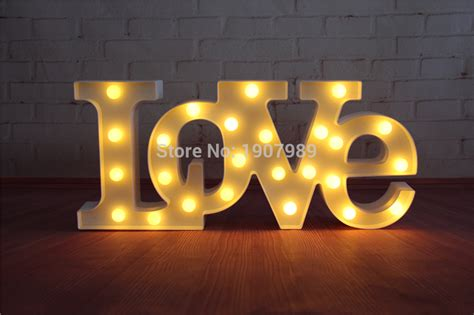 cheap light up letters aliexpress com buy quot love quot red led marquee sign light up
