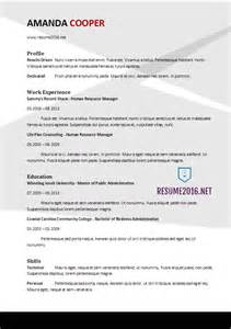 Resume Sample Templates 2017 by Resume Format 2017 20 Free Word Templates