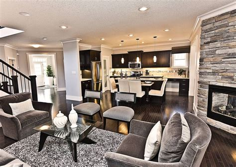 Gray Living Room What Color Kitchen New Homes Month Blueprints