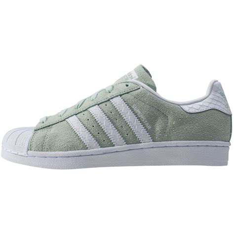 Adidas Superstar Mint Footwear White adidas superstar w womens trainers in mint white