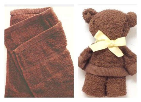 How To Fold A Paper Towel - towel teddy tutorial you probably never heard of