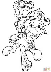 paw patrol coloring pages marshall firetruck coloring