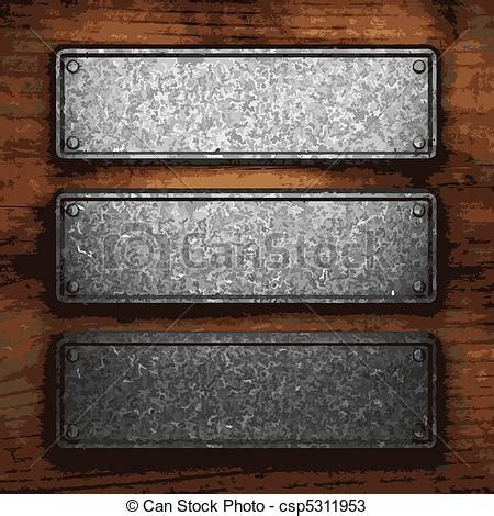 Iron Plate 10 Kg5 Cm vectors of iron plate on wood made in vector csp5311953