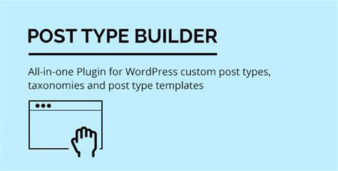 post type builder v1 2 8 custom post types