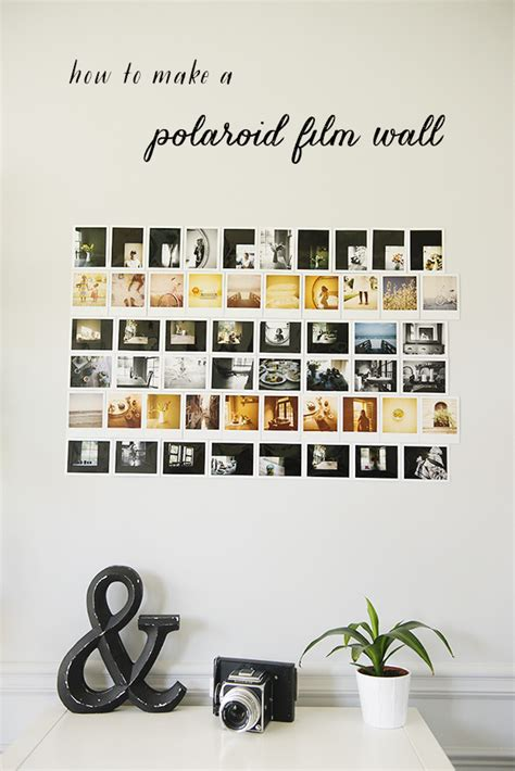 Room Decorations by How To Make A Polaroid Film Photo Wall 187 The Sweet Light
