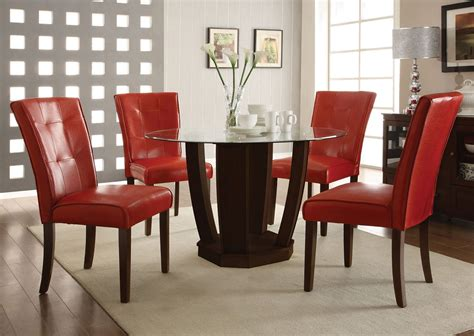 contemporary leather dining room chair set decoration