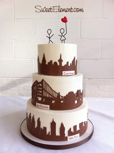 wedding cakes new york city city skyline wedding cake sweetelement