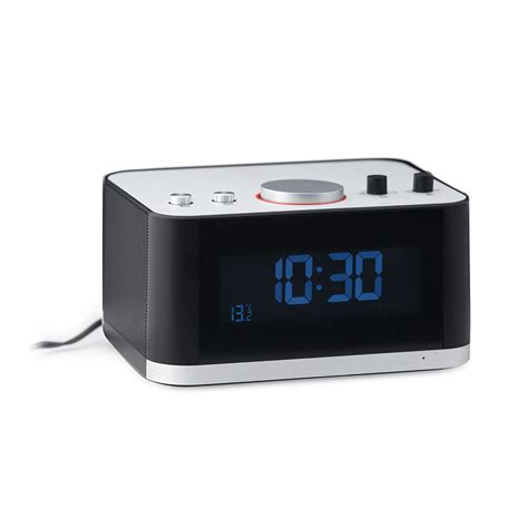 desk radio with bluetooth alarm clock fm radio bluetooth speaker black balvi 26591