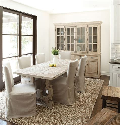 Dining Room Table And Hutch Country Style Dining Room With A Stylish Hutch And Dining Table In Wood Decoist