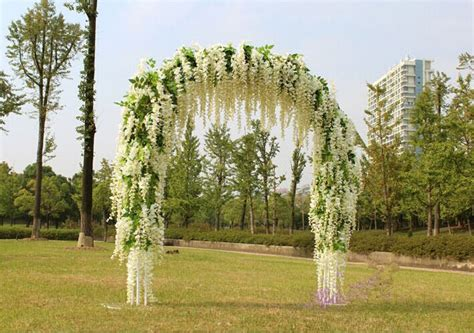 Wedding Arch With Wisteria by Gnw 1 5m Length White Artificial Decorative Flower Vines