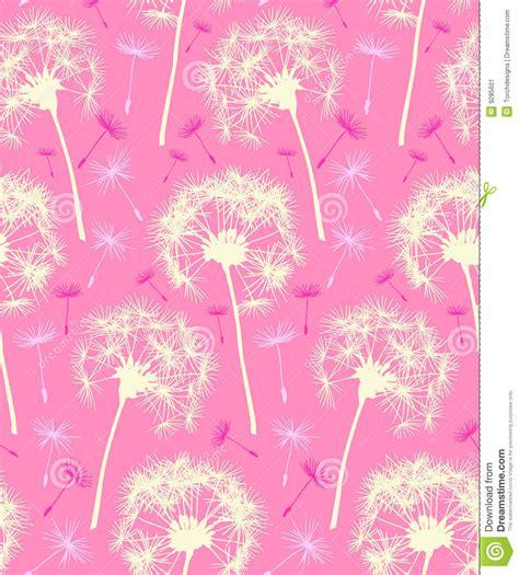 wallpaper pink dandelion dandelion repeater pattern background pink stock image