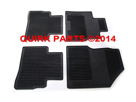 Nissan Murano All Weather Floor Mats by 2009 2014 Nissan Murano Black All Weather Rubber Front