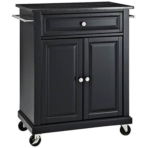 black kitchen island cart york black granite top black 2 door kitchen island cart 7h016 ls plus