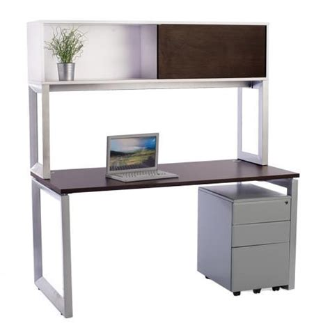 desk with overhead storage options desk with overhead storage