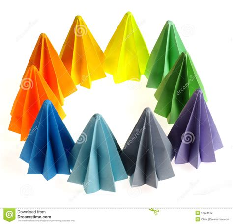 colorful origami colorful origami units stock photography image 12924572