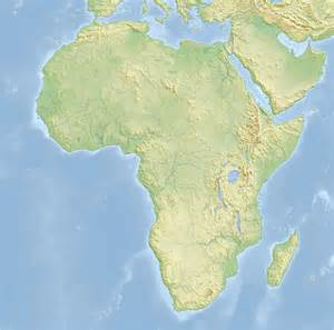 Topographic Map Of Africa topographic map of africa 2008 full size