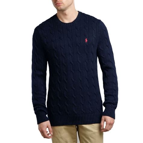 ralph navy cable knit jumper ralph polo jumper cable knit navy