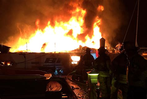 falmouth fire boat fire at cape cod marina seriously injures one woman