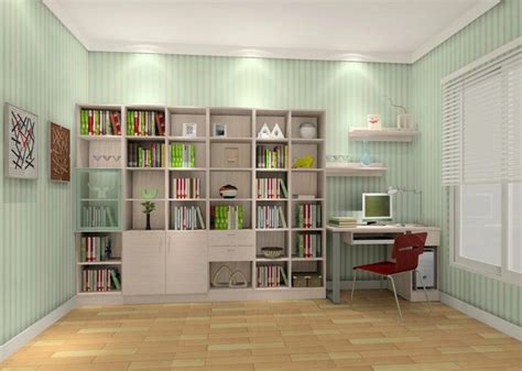 study room plans with bookcase 3d house