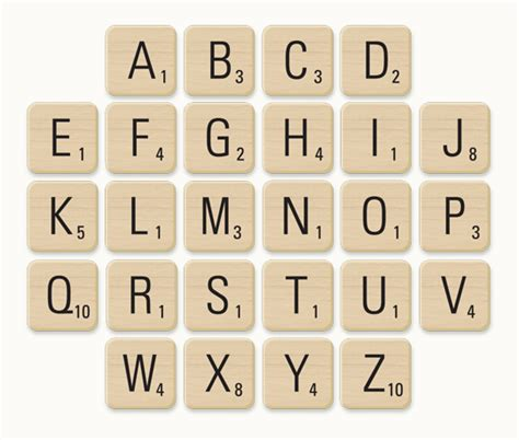 tiles in a scrabble 7 best images of printable scrabble pieces free