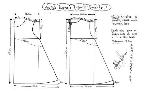 esquema de vestido esquema de modelagem do vestido trap 233 zio infantil tamanho