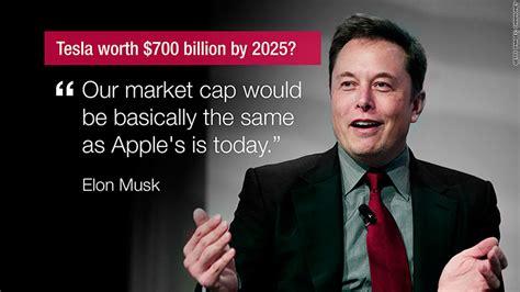 Elon Musk Tesla Stock Elon Musk S Call Tesla Is Worth 700 Billion