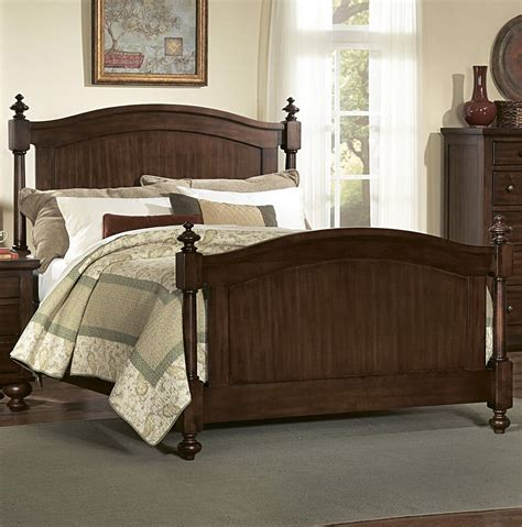 newcastle bed brown warm cherry homelegance aris poster bed in warm brown cherry beyond