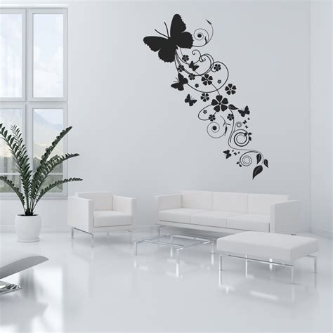 flower wall stickers uk wallstickers folies flower butterflies wall stickers