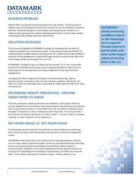 outsourced rebate processing white paper
